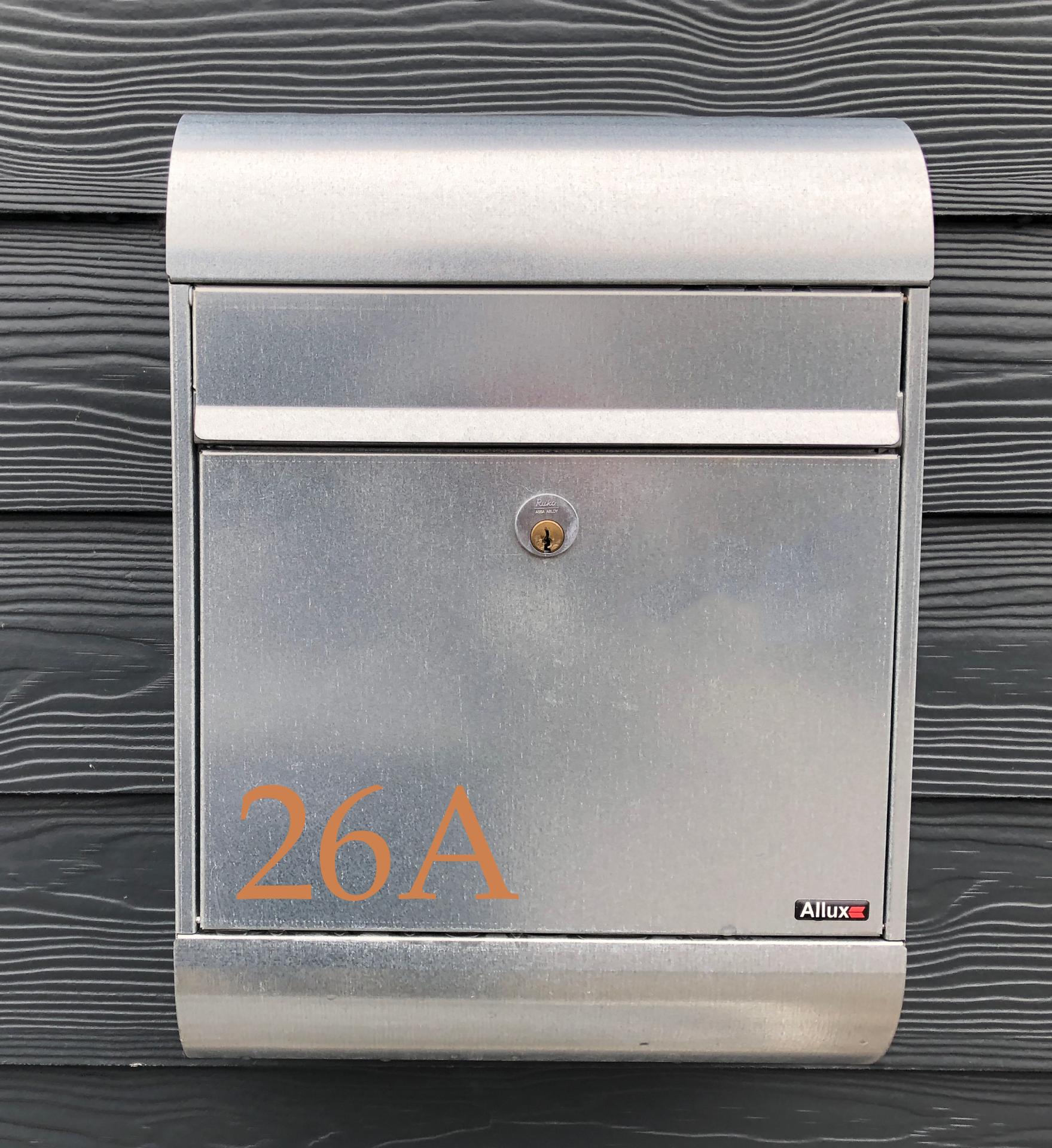 Nye Kobber selvklæbende tal og bogstaver - Kobber tal & bogstaver YI-76